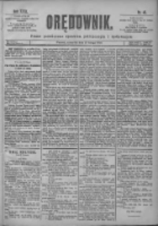 Orędownik: pismo poświęcone sprawom politycznym i spółecznym 1901.02.21 R.31 Nr43