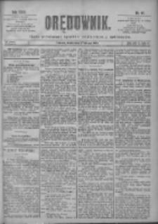 Orędownik: pismo poświęcone sprawom politycznym i spółecznym 1901.02.27 R.31 Nr48