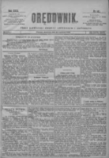 Orędownik: pismo poświęcone sprawom politycznym i spółecznym 1901.06.23 R.31 Nr142