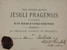 Vera effigiens gratiosi Jesuli Pragensis