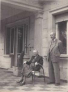Józef Kostrzewski z żoną Jadwigą w Cieplicach