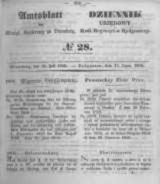 Amtsblatt der Königlichen Preussischen Regierung zu Bromberg. 1850.07.12 No.28