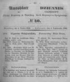 Amtsblatt der Königlichen Preussischen Regierung zu Bromberg. 1850.10.04 No.40