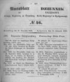 Amtsblatt der Königlichen Preussischen Regierung zu Bromberg. 1850.11.15 No.46