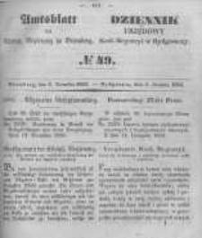Amtsblatt der Königlichen Preussischen Regierung zu Bromberg. 1850.12.06 No.49