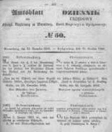 Amtsblatt der Königlichen Preussischen Regierung zu Bromberg. 1850.12.13 No.50