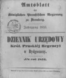 Amtsblatt der Königlichen Preussischen Regierung zu Bromberg. 1853.01.07 No.1