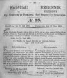 Amtsblatt der Königlichen Preussischen Regierung zu Bromberg. 1853.07.15 No.28
