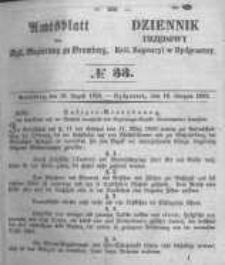 Amtsblatt der Königlichen Preussischen Regierung zu Bromberg. 1853.08.19 No.33