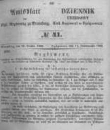 Amtsblatt der Königlichen Preussischen Regierung zu Bromberg. 1853.10.14 No.41