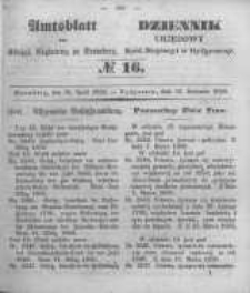 Amtsblatt der Königlichen Preussischen Regierung zu Bromberg. 1850.04.19 No.16