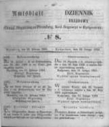 Amtsblatt der Königlichen Preussischen Regierung zu Bromberg. 1854.02.24 No.8