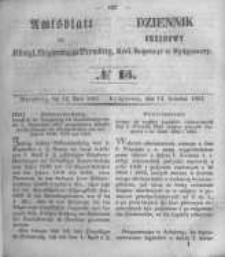 Amtsblatt der Königlichen Preussischen Regierung zu Bromberg. 1854.04.14 No.15