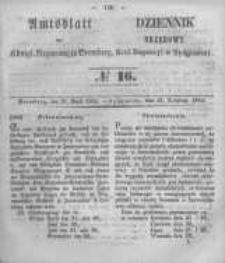 Amtsblatt der Königlichen Preussischen Regierung zu Bromberg. 1854.04.21 No.16