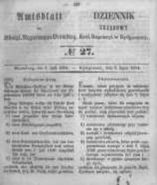Amtsblatt der Königlichen Preussischen Regierung zu Bromberg. 1854.07.07 No.27