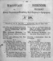 Amtsblatt der Königlichen Preussischen Regierung zu Bromberg. 1854.07.14 No.28