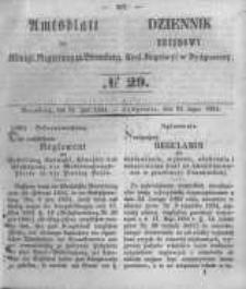 Amtsblatt der Königlichen Preussischen Regierung zu Bromberg. 1854.07.21 No.29