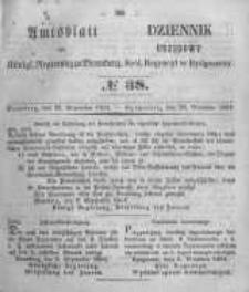 Amtsblatt der Königlichen Preussischen Regierung zu Bromberg. 1854.09.22 No.38