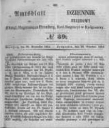 Amtsblatt der Königlichen Preussischen Regierung zu Bromberg. 1854.09.29 No.39