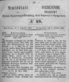 Amtsblatt der Königlichen Preussischen Regierung zu Bromberg. 1854.12.01 No.48