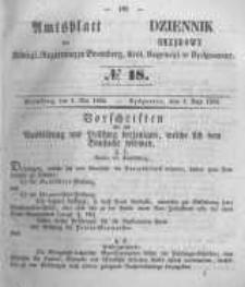 Amtsblatt der Königlichen Preussischen Regierung zu Bromberg. 1855.05.04 No.18