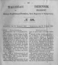 Amtsblatt der Königlichen Preussischen Regierung zu Bromberg. 1855.09.21 No.38