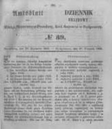 Amtsblatt der Königlichen Preussischen Regierung zu Bromberg. 1855.09.28 No.39