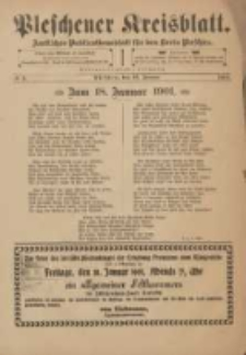 Pleschener Kreisblatt: Amtliches Publicationsblatt fuer den Kreis Pleschen 1901.01.16 Jg.49 Nr5