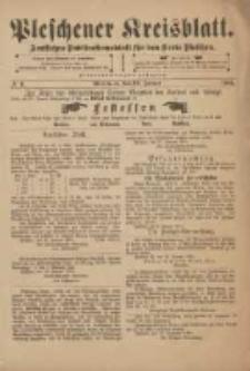 Pleschener Kreisblatt: Amtliches Publicationsblatt fuer den Kreis Pleschen 1901.01.19 Jg.49 Nr6