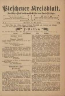 Pleschener Kreisblatt: Amtliches Publicationsblatt fuer den Kreis Pleschen 1901.01.23 Jg.49 Nr7