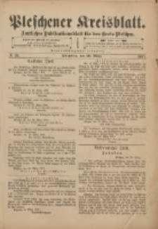 Pleschener Kreisblatt: Amtliches Publicationsblatt für den Kreis Pleschen 1901.03.30 Jg.49 Nr26