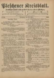 Pleschener Kreisblatt: Amtliches Publicationsblatt für den Kreis Pleschen 1901.04.20 Jg.49 Nr32