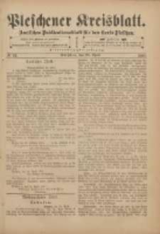 Pleschener Kreisblatt: Amtliches Publicationsblatt für den Kreis Pleschen 1901.04.24 Jg.49 Nr33