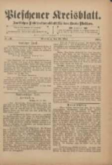 Pleschener Kreisblatt: Amtliches Publicationsblatt für den Kreis Pleschen 1901.05.18 Jg.49 Nr40