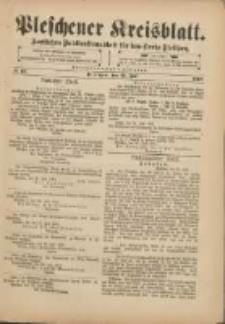Pleschener Kreisblatt: Amtliches Publicationsblatt für den Kreis Pleschen 1901.07.31 Jg.49 Nr61