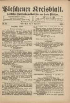 Pleschener Kreisblatt: Amtliches Publicationsblatt für den Kreis Pleschen 1901.09.07 Jg.49 Nr72