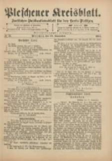 Pleschener Kreisblatt: Amtliches Publicationsblatt für den Kreis Pleschen 1901.09.18 Jg.49 Nr75