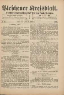 Pleschener Kreisblatt: Amtliches Publicationsblatt für den Kreis Pleschen 1901.10.02 Jg.49 Nr79