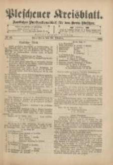 Pleschener Kreisblatt: Amtliches Publicationsblatt für den Kreis Pleschen 1901.10.23 Jg.49 Nr85