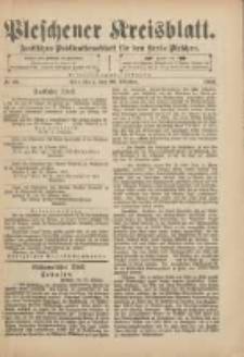Pleschener Kreisblatt: Amtliches Publicationsblatt für den Kreis Pleschen 1901.10.26 Jg.49 Nr86