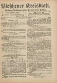 Pleschener Kreisblatt: Amtliches Publicationsblatt für den Kreis Pleschen 1901.10.30 Jg.49 Nr87