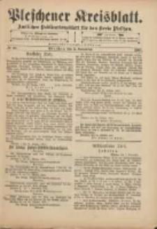 Pleschener Kreisblatt: Amtliches Publicationsblatt für den Kreis Pleschen 1901.11.02 Jg.49 Nr88