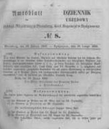 Amtsblatt der Königlichen Preussischen Regierung zu Bromberg. 1856.02.22 No.8