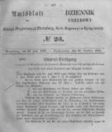 Amtsblatt der Königlichen Preussischen Regierung zu Bromberg. 1856.06.20 No.25