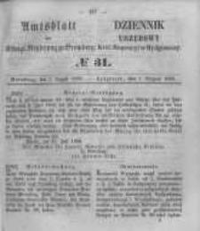 Amtsblatt der Königlichen Preussischen Regierung zu Bromberg. 1856.08.01 No.31
