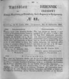 Amtsblatt der Königlichen Preussischen Regierung zu Bromberg. 1856.10.10 No.41
