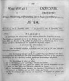 Amtsblatt der Königlichen Preussischen Regierung zu Bromberg. 1856.11.07 No.45