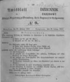 Amtsblatt der Königlichen Preussischen Regierung zu Bromberg. 1857.02.27 No.9