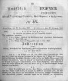 Amtsblatt der Königlichen Preussischen Regierung zu Bromberg. 1857.11.20 No.47