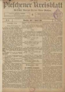 Pleschener Kreisblatt: Amtlicher Anzeiger für den Kreis Pleschen 1906.01.03 Jg.54 Nr1
